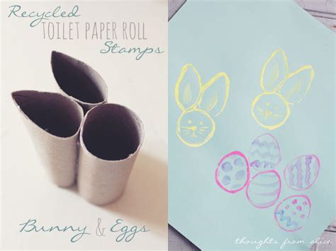 bunny toilet paper roll craft recycled tp roll easter bunny and egg sts kid s craft