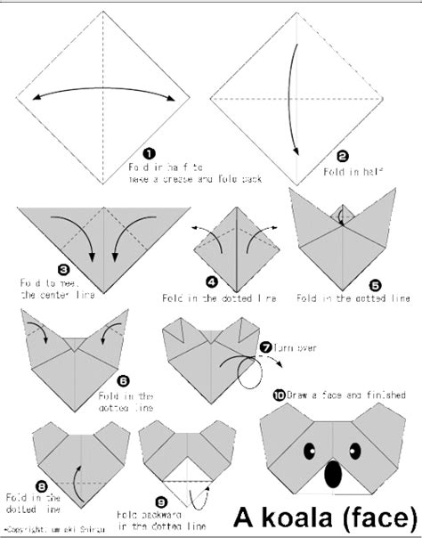 how to do origami koala easy origami for