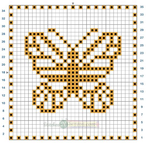 butterfly knitting chart free pattern filet crochet butterfly motif chart