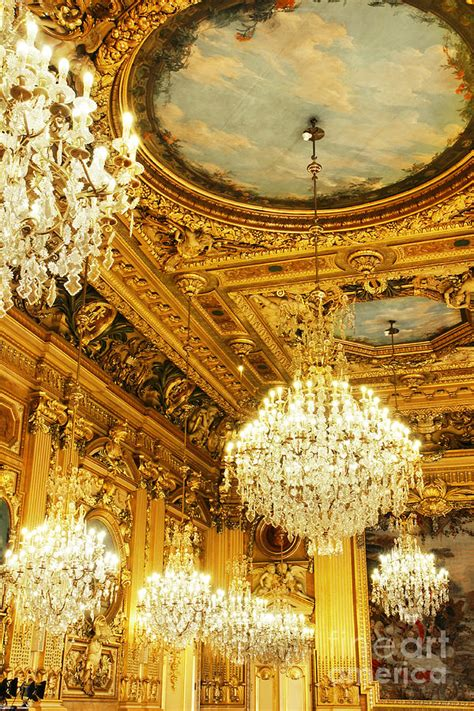 gold and chandeliers gold ceiling and chandeliers photograph by sylvie bouchard