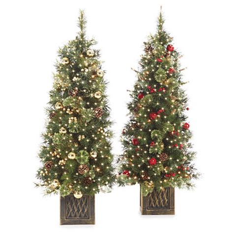 pre decorated artificial trees 4 pre lit artificial urn trees pre decorated