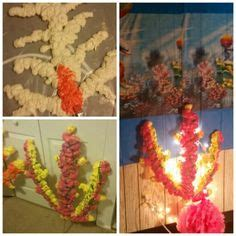 spray paint reef coral reef made from boxes spray foam and spray