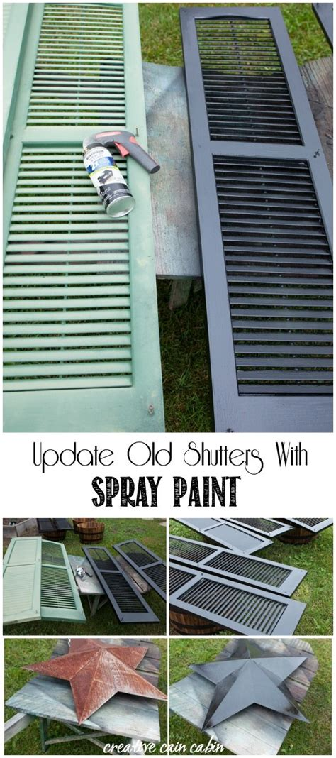 spray paint vinyl shutters 25 best ideas about painting shutters on