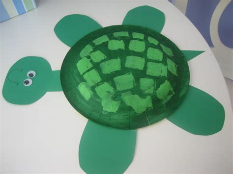 turtle paper craft summer craft paper plate turtle happy home