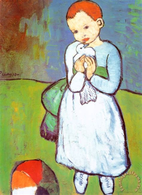 picasso paintings as a child pablo picasso child with a dove c 1901 painting child