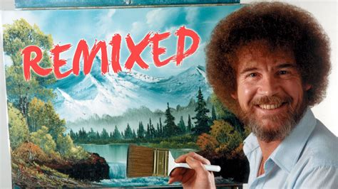 bob ross painting happy trees bob ross remixed happy clouds pbs digital