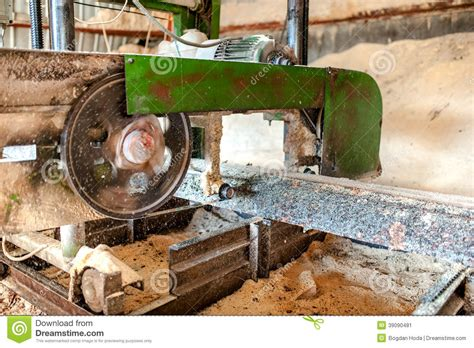 production woodworker up of band saw sawmill stock photo image 39090481