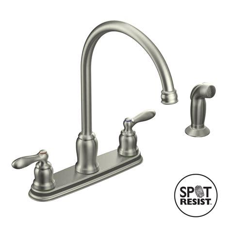 moen kitchen faucet parts shop moen caldwell spot resist stainless 2 handle high arc