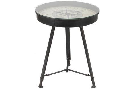 table basse trepied et plateau boussole crusoe table basse pas cher