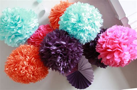 decorations for to make with paper how to diy paper pom tutorial decorations that impress