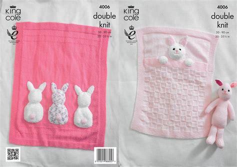 bunny blanket knitting pattern king cole 4006 knitting pattern baby blankets and bunny
