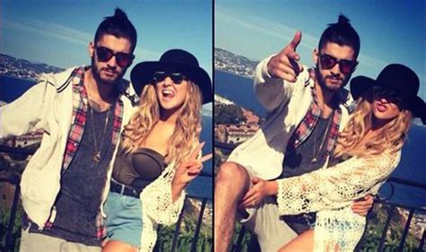 zayn malik and perrie edwards loved up on holiday