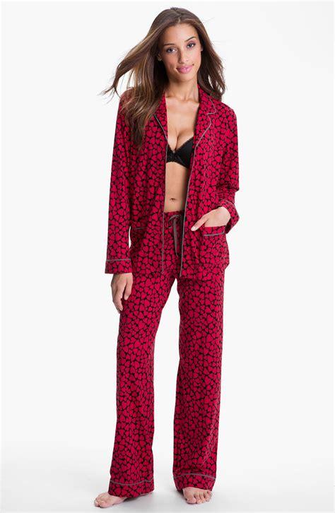 knit pajamas dkny patterned knit pajamas in delicious hearts