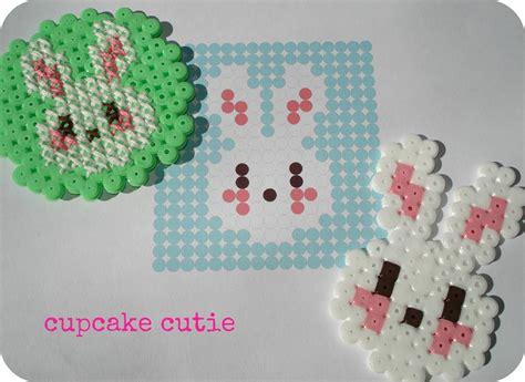 free hama bead patterns cupcake cutie free hama bead bunny pattern