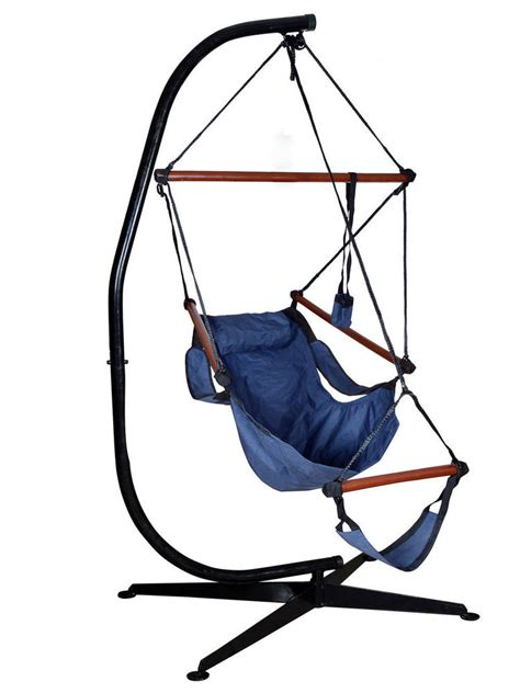 hammock chairs with stands hammock c frame stand solid steel construction for hanging air porch swing chair ebay