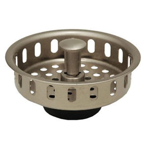 kitchen sink basket replacement satin nickel kitchen sink drain basket strainer stopper