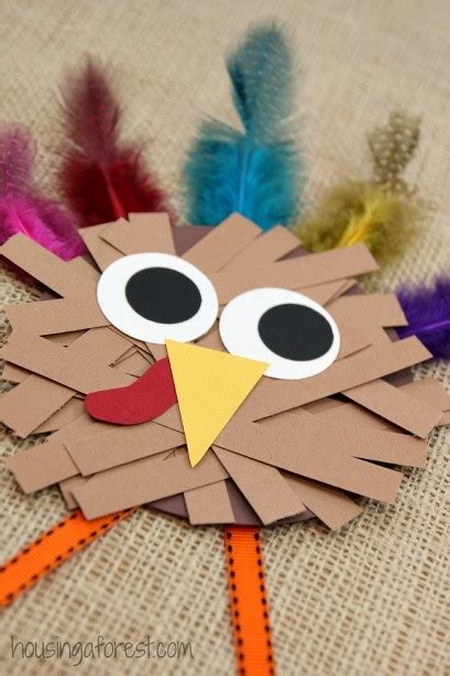 craft projects for thanksgiving paper turkey craft housing a forest