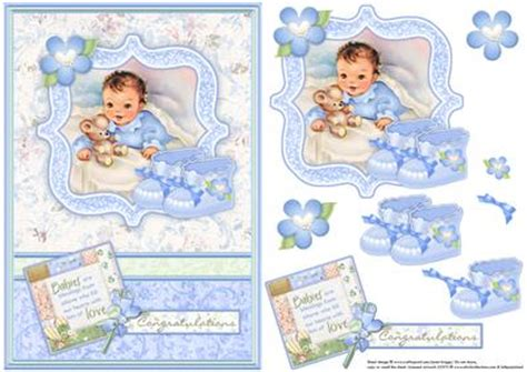baby decoupage new baby boy bootees vintage decoupage cup584619 68