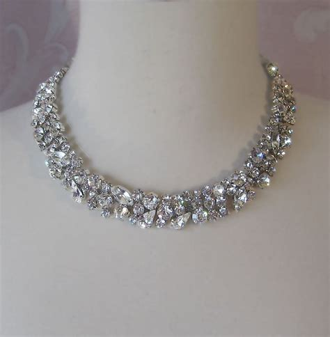 how to make rhinestone jewelry rhinestone necklace bridal choker wedding nacklace