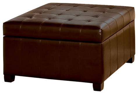 leather ottomans lyncorn leather storage ottoman coffee table