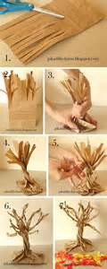 paper trees craft school project paper bag fall tree craft ideas