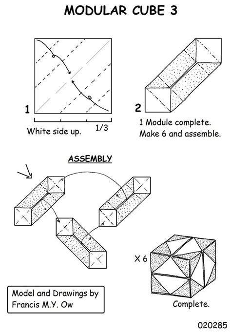 origami modular diagrams cube modular origami diagrams 2016