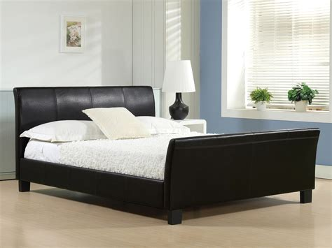 cheap black bed frame bentley black faux leather bed frame cheap bed frames