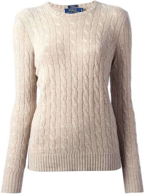 polo cable knit sweater polo ralph cable knit sweater in lyst