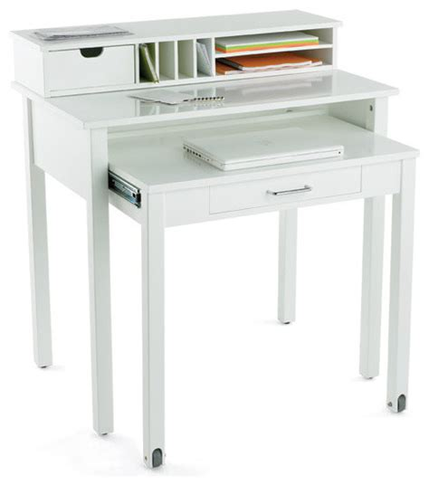 small white desk for white roll out desk modern desks and hutches by the