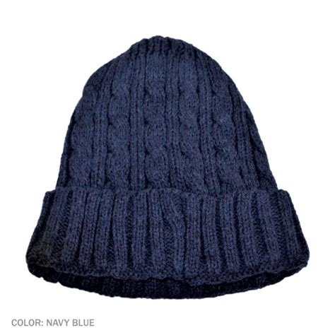 knitted hats b2b jaxon cable knit beanie hat navy blue beanies