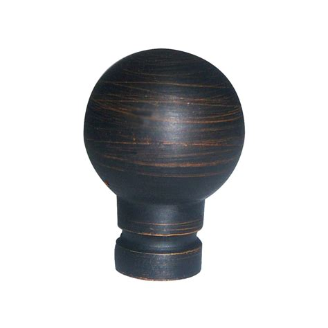 Outdoor Patio Furniture Lowes by Shop Portfolio Aged Bronze Lamp Finial At Lowes Com