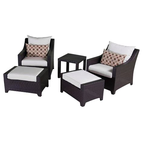 patio chair and ottoman set rst brands deco 5 patio club chair and ottoman set