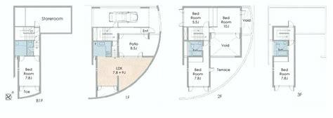 tadao ando floor plans tadao ando aobadai house floorplan japan property central