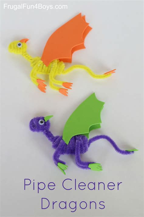 easy pipe cleaner crafts for pipe cleaner dragons craft for crafts boys and for