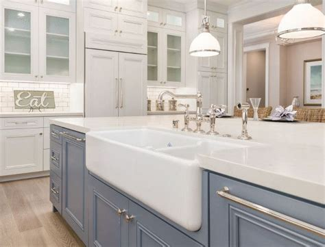 kitchen island sink kitchen farmhouse 25 best ideas about htons style homes on