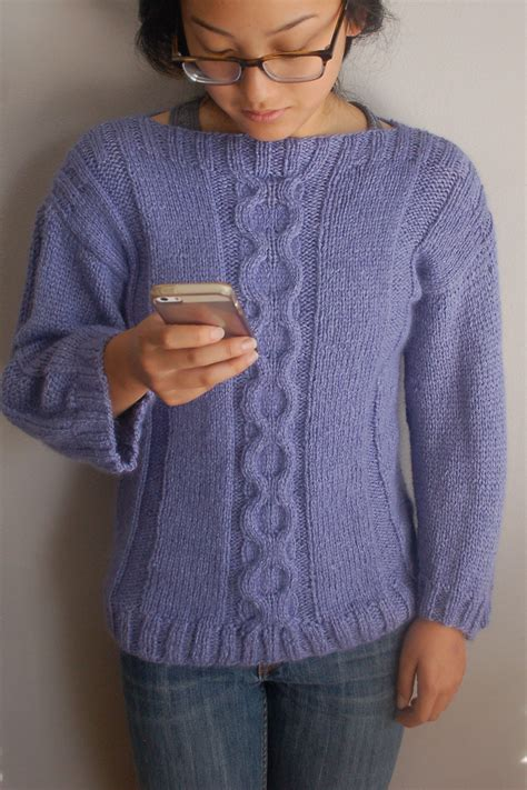 knit pullover sweater cable sweater knitting pattern easy to knit pullover