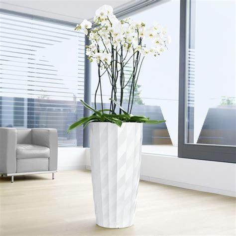 modern indoor planters lechuza diamante self watering indoor planter