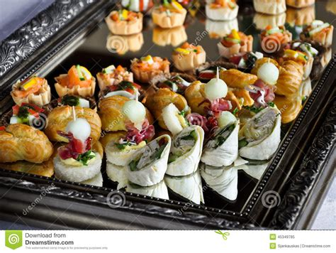 How To Set A Formal Table party food platter stock photo image 45349785