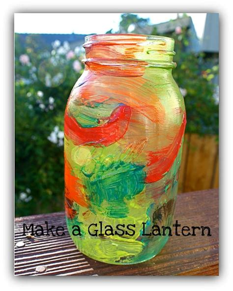 glass jar crafts for jar craft for painted lantern buggy and buddy