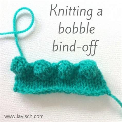 knitting decorative bind tutorial knitting a bobble bind la visch designs