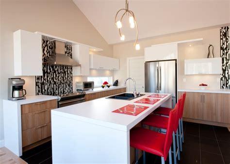 cuisine contemporaine comptoir de stratifi 233 armoire de