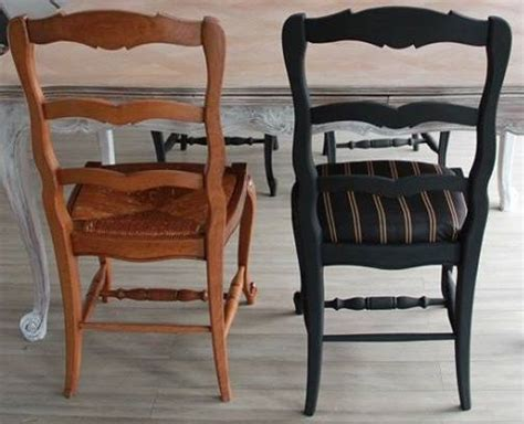 relooking chaises avant apr 232 s francine declerck decaper poncer peindre