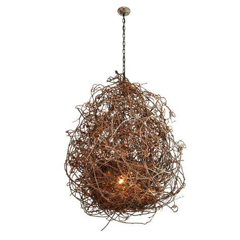 vine chandelier kiwi vine quot nest quot chandelier at 1stdibs