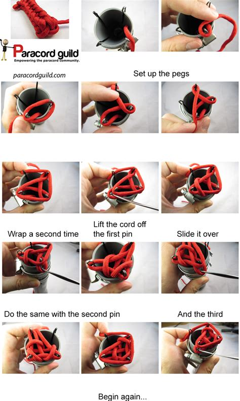 how to begin knitting three and four peg spool knitting paracord guild