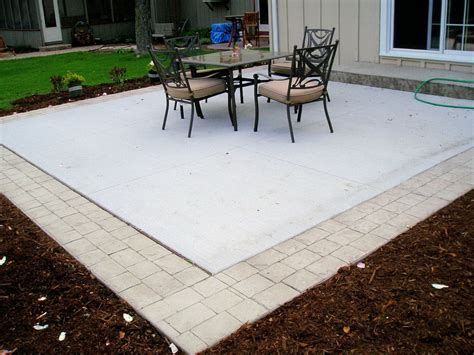 patio with concrete pavers patio with concrete pavers types of patios concord