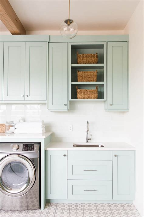 laundry room storage ideas coastal blue laundry room design home bunch interior