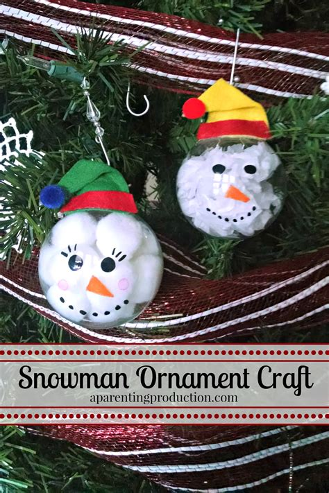 snowman ornament craft craft make your own snowman ornament