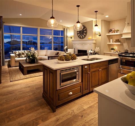 great kitchen the hawthorne kitchen great room at dusk traditional