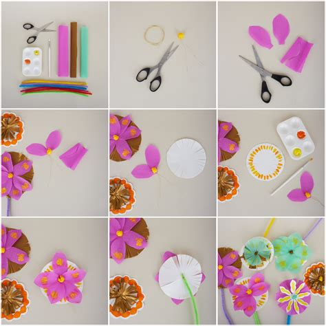 steps to make paper crafts craft how to make a paper bouquet
