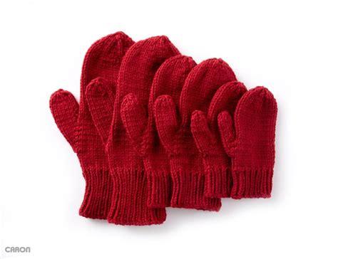 mitten pattern knit basic family mittens free pattern to knit